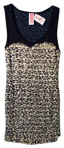 Route 3 short dress black & white animal print on Tradesy