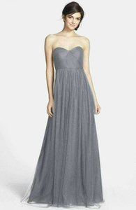 Jenny Yoo Slate Grey Tulle Annabelle In Modern Bridesmaid/Mob Dress Size 22 (Plus 2x)