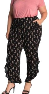 Susina Relaxed Pants Black Floral