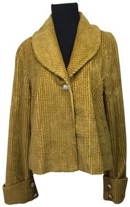Anthropologie Corduroy Rhinsestone Fall Autumn Jacket Pea Coat