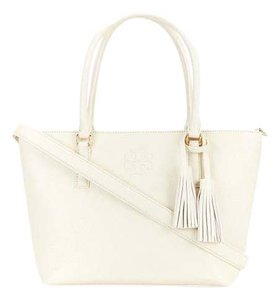 Tory Burch Thea Convertible Leather 55366 Tote in Ivory