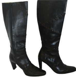 Maggio and Rossetto Leather Knee-high Knee Black Boots