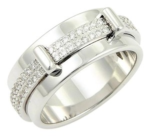 Asprey Asprey Keria 18k White Gold & Diamond 8mm Spinning Band Ring