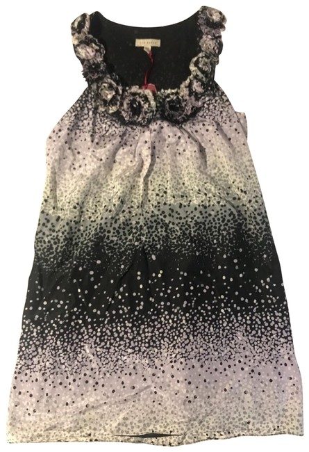 Item - Multicolor Diffused Polka Dot Roses Short Casual Dress Size 10 (M)