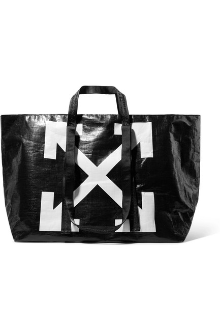 Item - Bag Off-white Logo Handle Cotton-canvas Tote