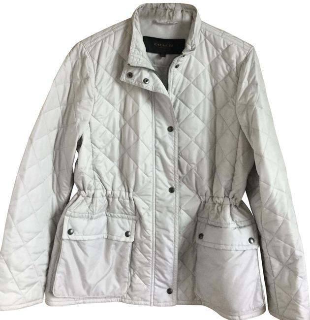 Item - Light Gray/ Silver Diamond Quilted Hacking Jacket Size 16 (XL, Plus 0x)