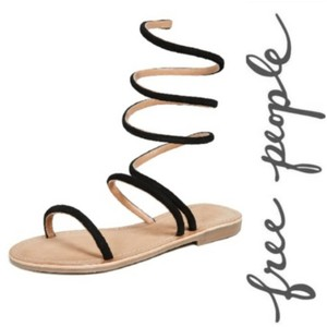 Free People Black Sandals