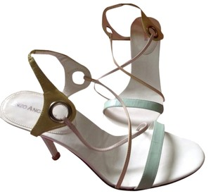 Enzo Angiolini Cream, Butter Yellow, Mint Green, Soft Pastell Sandals