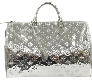 Louis Vuitton Satchel in Silver Monogram Mirior Miroir Mirror Metallic