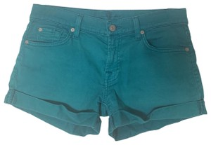 7 For All Mankind Cuffed Shorts Teal