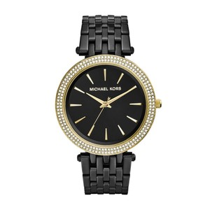 Michael Kors NWT Black Darci Gold-Tone women's watch MK3322