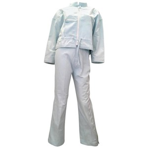 Courrèges Courreges 2 Piece Light Blue Cotton Pant Suit - 1980's