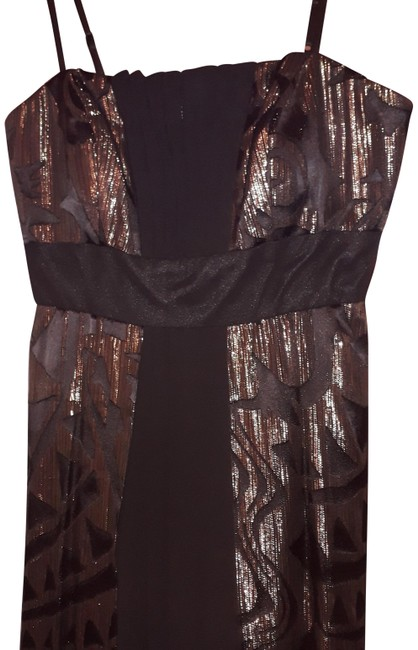Item - Black and Gold Gown Long Formal Dress Size 8 (M)