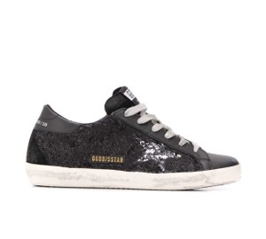Golden Goose Deluxe Brand M80 Black Night Paillettes Athletic