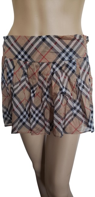 Item - Beige Brown Multicolor Nova Check Plaid Print Skirt Size 2 (XS, 26)