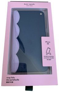 """Kate Spade iPhone XR - NWT """" Scallop Colorblock """" Leather Wrap Folio Case"""