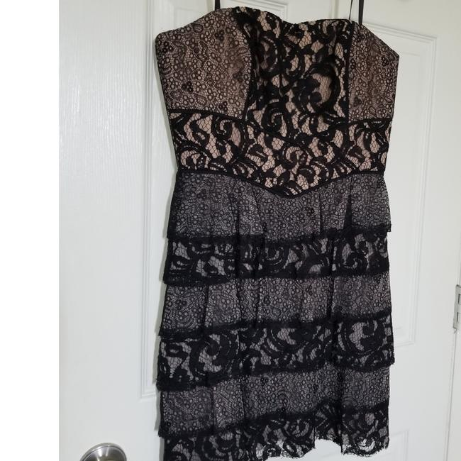 Item - Black Lace with Nude Undertones Perfectly Perfect Short Cocktail Dress Size 4 (S)