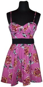 Twenty One short dress Multi-Color Bustier Pleated Roses Colorful Sexy on Tradesy