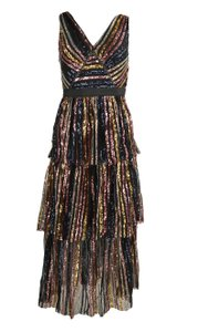 self-portrait Cotton Polyester Sequin Dress