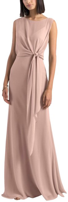 Item - Whipped Apricot Paltrow Overlay Chiffon Long Formal Dress Size 12 (L)
