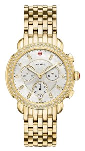 Michele Sidney Stainless Steel Mother of Pearl Diamond MWW30A000008