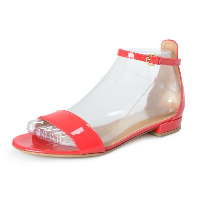 """Item - Red Women's """"Elgy"""" Patent Leather Heeled Sandals Size US 9 Wide (C, D)"""
