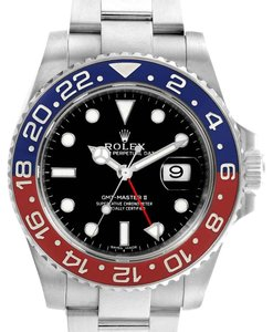 Rolex Rolex GMT Master II White Gold Pepsi Bezel Mens Watch 116719 Box