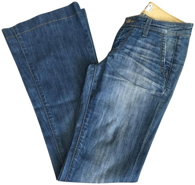 Item - Blue Light Wash Santa Monica Flare Leg Jeans Size 24 (0, XS)