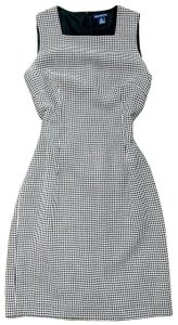 Ann Taylor Houndstooth & White Jumper Sheath Wool Dress