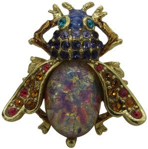Jay Strongwater Jay Strongwater Bejeweled Flying Insect pin , new in box