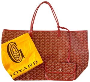 Goyard St Louis Tote in Red