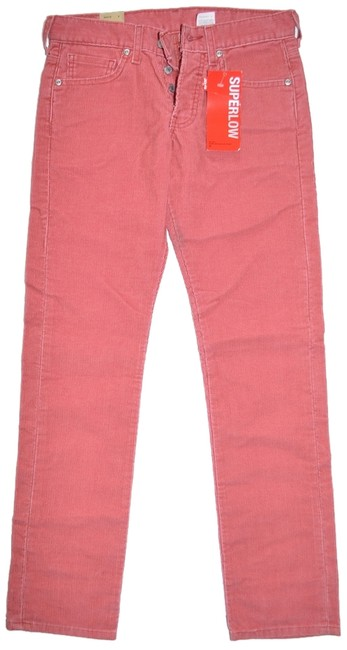 Item - Pink Made In Usa W27 Button Fly Straight Leg Jeans Size 30 (6, M)