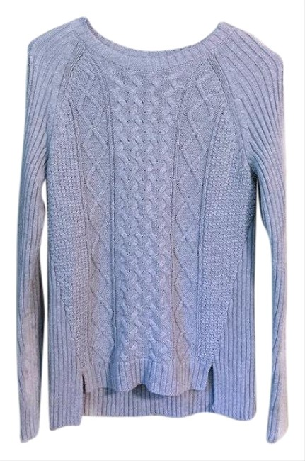 Michael Kors Womens Crew Neck Cotton Size Small Cable Knit. Condition Is Pre-owned. Shipped with 19 Gray Sweater Michael Kors Womens Crew Neck Cotton Size Small Cable Knit. Condition Is Pre-owned. Shipped with 19 Gray Sweater Image 1