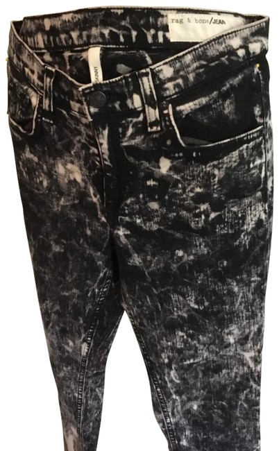 Item - Black and White Acid Skinny Jeans Size 4 (S, 27)