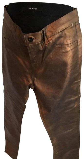 Item - Copper Coated Metal Processed Skinny Jeans Size 8 (M, 29, 30)