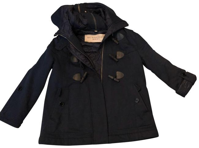 Item - Navy Blue Duffle Toggle Buttons Coat Size 10 (M)