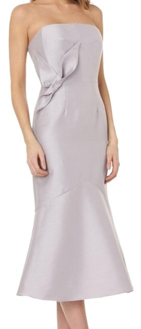 Preload https://img-static.tradesy.com/item/26149508/kay-unger-gray-strapless-flower-cocktail-midi-mid-length-formal-dress-size-12-l-0-2-650-650.jpg