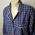 Victoria's Secret Pajama Plaid Wide Sleeves Button Down Shirt BLUE Image 4