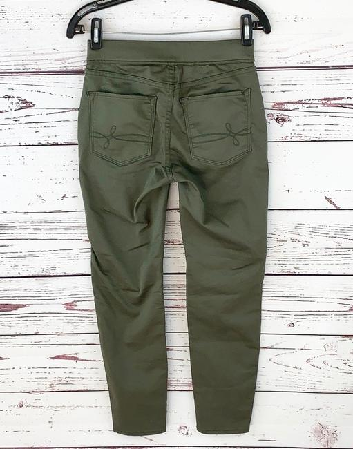 Denizen High Rise Moto Jeggings Stretchy Skinny Pants Army Green Image 4
