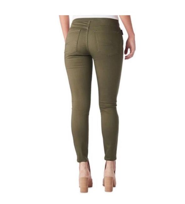 Denizen High Rise Moto Jeggings Stretchy Skinny Pants Army Green Image 8