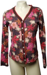 Boden Floral Button Front Cardigan