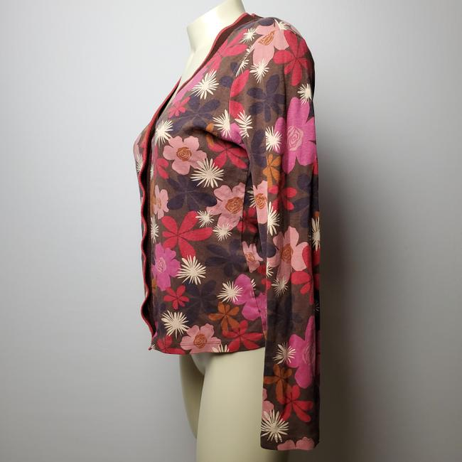 Boden Floral Button Front Cardigan Image 1