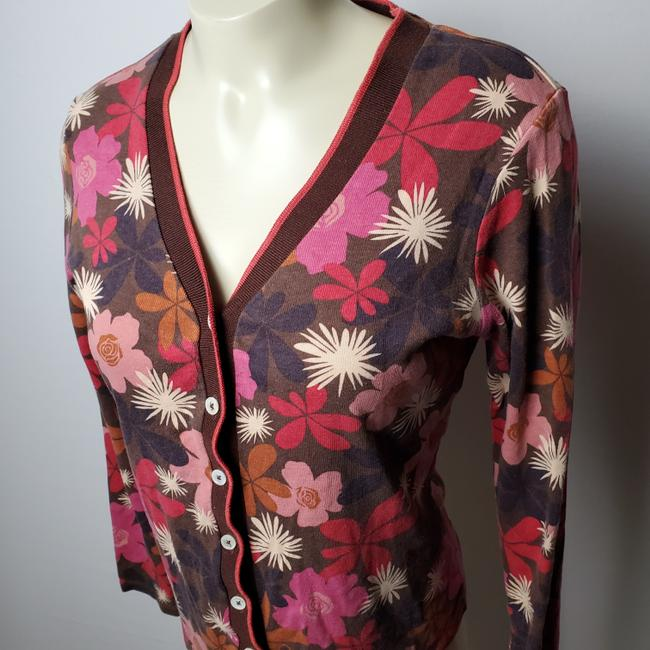 Boden Floral Button Front Cardigan Image 3