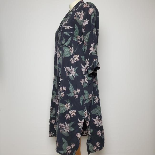 CHARCOAL Maxi Dress by FRANK & OAK Silk Robe Button Front Image 1