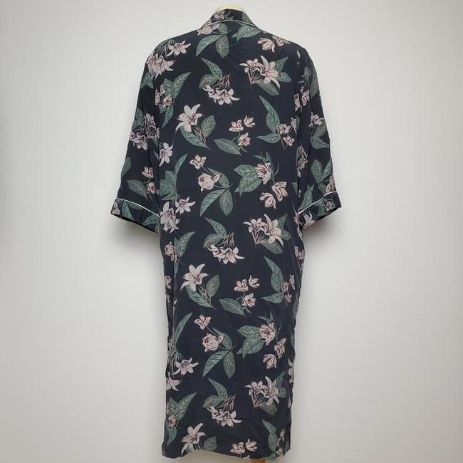 CHARCOAL Maxi Dress by FRANK & OAK Silk Robe Button Front Image 3