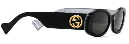 Gucci NEW Oval Style gg0517s 001 - FREE 3 DAY SHIPPING -Slim Oval Sunglasses Image 7