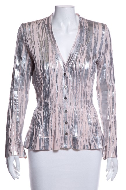 Preload https://img-static.tradesy.com/item/26149563/oscar-de-la-renta-gray-pink-sweater-0-0-650-650.jpg
