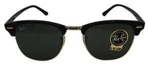Ray-Ban Black Frame RB3016 W0365 51 Unisex Square Clubmaster Sunglasses
