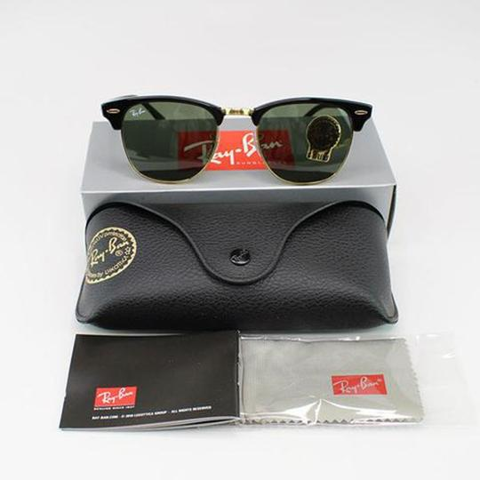 Ray-Ban Black Frame RB3016 W0365 51 Unisex Square Clubmaster Sunglasses Image 4