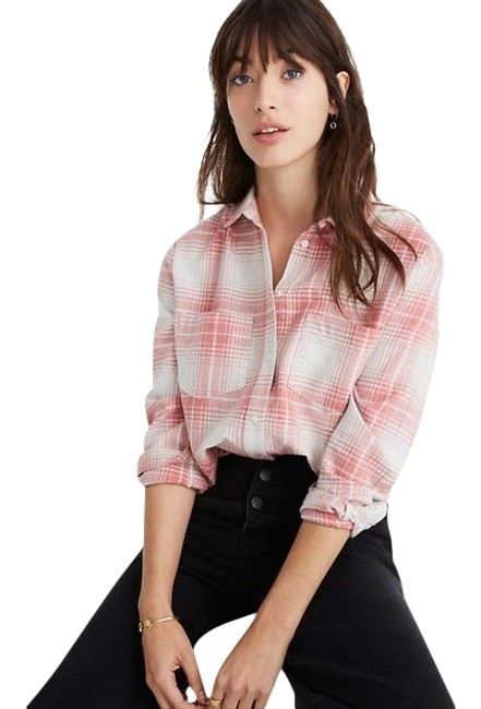 Preload https://img-static.tradesy.com/item/26149581/madewell-pink-sunday-button-down-top-size-2-xs-0-1-650-650.jpg